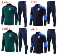 21 22 Erwachsene und Kinder Italien Überlebensjacke Trainingsanzug Fussball Trainingsanzüge 2021 Italia Trainingsanzug Fußballjacke Trainingsanzug Set