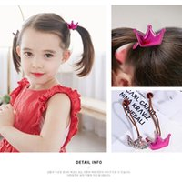 Hair Accessories 1Pack=2PCS Kids Ropes Cute Crown Shiny Star Sweet Heart Hairband Little Girls Elastic Rubber Ring Gifts