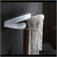 반지 하드웨어 목욕 홈 가든 드롭 배달 2021 욕실 홀더, 북유럽 솔리드 황동 수건 홀더 욕실, 벽에 매달려있는 선반