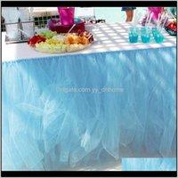 80x100cm PARTY Tavolo da sposa Tulle Gonna Banchetto Partys Evento celebrazione Evento Home Desk Decor AKBVR RBDAX