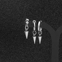 펑크 KPOP DNA 한국어 간단한 테이퍼 스테인레스 스틸 스터드 귀걸이 방송 소년 V 쥬얼리 액세서리 망 및 여성용 1 372 Q2