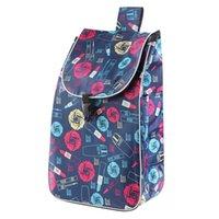 أكياس التسوق للعربة عربة التسوق امرأة سلة مقطورة كبيرة طوي حقيبة تخزين مربع 210626