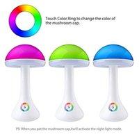 Dokunmatik Karartma 3 Adımlar Parlaksız Masa Lambası Mantar Gece Işık Renkli LED Masa Işık USB Şarj Edilebilir