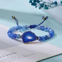 6mm Natural Stone Beads Charm Bracelets for Women Irregular Stone Durzy Pendant Handmade Braided Agate Bead Bracelete Fashion Jewelry
