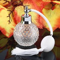 Storage Bottles & Jars 100ml White Vintage Crystal Perfume Bottle Long Spray Atomizer Refillable Glass Lady Gift