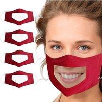 Haustiermaterial Lippe Sprache Anti-Nebel Kinder Transparente Maske Plaid-Baumwollmasken für Gehörlose und dumme Menschen Weiche staubdichte Erwachsene HWD10191
