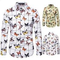 lapel Designers Mens Polo Shirt Black Button Up Us size Crop Top Luxurys T Shirts 2021 Camisas De Hombre Long Sleeves Cardigan Man Men Clothing S XXL Dress Men's XL221