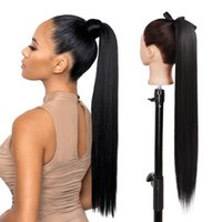 Synthetic Wigs XINRAN Women's Ponytail Long Wavy Hair Clip In Pony Tail Wrap Around Black Blonde Heat Resistant Fiber