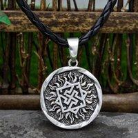 Youe Shone Men Fern Amulet Amulet Viking Celtic Talisman Pingente Norse Pagan Necklaces