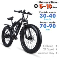 Electric Bicycle Fat Tiretel Hub Brushless Motore Batteria al litio 48 V 1000 W 26 pollici in lega di alluminio Beach Spiaggia all'aperto Montagna Snow Bike Seat LED Fender MX02S Plus