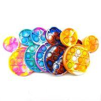 Os brinquedos de descompressão do grupo dos EUA empurram o seu popper dos desenhos animados dos desenhos animados característica popper Bubble Toytip Sensory For presentes