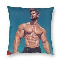 Cushion Decorative Pillow Sexy Man Super Strong Muscle Male Boyfriend Cushion Cover Sofa Home Decorative Gay Body Art Square Throw Case 40x4