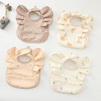 Baby Waterproof PU Bib Angel Wings Feed Pocket Burp Cloths Saliva Towel Washable Kids Apron Female Smock Infant Bib Toddler Shower Gift