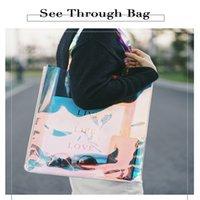 Luxurys Designers Bags Laser PVC Transparent Bag Portable Shopping Handbag Plastic Gift Handbags Cosmetic Packs Net Red Pack