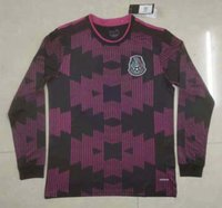 Manches longues 2021 2022 Mexique Jerseys Soccer Team H.Moreno Raul H.Lozano Chichaito 19 20 21 22 Chemise de football