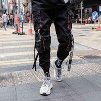 Proswow New Summer Black Hip Hop Calças de Carga Homens Streetwear Algodão Corredores Moda Sweatpants Casual Harem Calças 210406