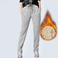 Arrivo Aslea Rovie CN (Origine) Pantaloni a caviglia Pantaloni Street Style Street Broadcloth Coulisse Solid High Flat Harem Capris da donna Harem