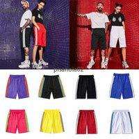 2021 Herren Womens Designer Kurze Hosen Kleidung Brief Druck Streifen Gurtband Rainbow Ribbon Series Casual Five-Point Beach Shorts Streetwear Kleidung