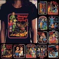 Hahayule-jbh 1 pcs legal moda demônios verão dor de futebol feminino mulheres homens engraçado campainha t-shirt nostalgia leuke preto