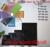 Plastic mylar bags Aluminum Foil Zipper Bag for Long Term food storage and collectibles protection 8 colors resealable 53