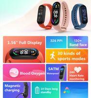 Xiaomi Mi Band 6 سوار ذكي أموليد الدم الأكسجين اللياقة Traker معدل ضربات القلب بلوتوث ماء الذكية الفرقة 6