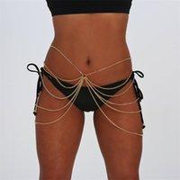 Cintura a catena della cintura femminile moda sexy multistrato di metallo corpo gioielli femminile abbigliamento alla moda bikini estate accessori spiaggia 1666 Q2