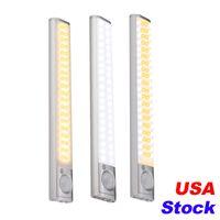 USA Stock Stock 80 LED Treppen Nachtlicht Wireless Pir Motion Sensing Schrank Unter Schrankbeleuchtung USB Wiederaufladbare Batterie