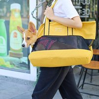 Fashion Pet Bag Cat Dog Canvas Breathable Purse Carrier Stuff Soft Sided Tote Bags For Small Car Seat Covers
