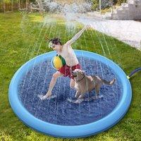 Mysudui Pet Sprinkler Pad Play Play Enfriadura Mat Piscina Outdoor Inflable Agua Agua Pad Bañera para perros Verano Fresco
