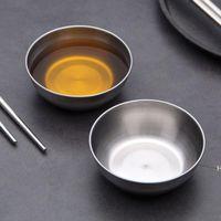 스테인레스 스틸 소스 접시 그릇 부엌 콩 작은 딥 플레이트 조미료 그릇 조미료 컨테이너 8cmx3cm DHE6475