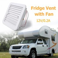 Parts 12V Fridge Vent With Fan For RV Trailer Caravan Side Air Strong Wind Exhaust Automobile Accessories Car Styling Camper