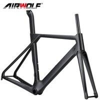 Airwolf Carbon Fiber Road Bike Frame Racing Bicycle Frames Fork Seatpost Frameset 700*32C BB86 49 52 54 56cm size Disc Brake 2 years warranty