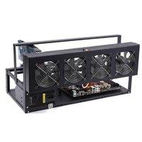 6/8 GPU Mineur minière minière en aluminium empilable de boîtier d'air ouvert Cadre Ordinateur Eth pour kit Bitcon Kit non assemblé Ventilations de ventilateurs Ethereum