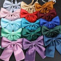 Kadın Kızlar Yay Bağları Katı Renk Üniforma Yaka Kelebek Yay Düğüm Papyon Öğrenci için Cravats