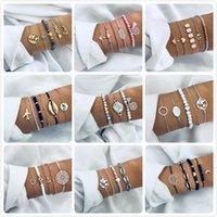 Богемный браслет для женщин Pearl Star Map Lotus ананас сердца натуральные каменные бисеры Bangle Boho ювелирные изделия подарок