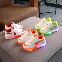First Walkers Size 21-30 Luminous Sneakers For Baby Boys Anti-slippery Glowing Children Led Lights Shoes Girl Breathable Casual