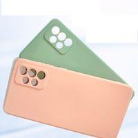 Quadrado Líquido Silicone TPU Capas Suaves Capa Para Samsung Galaxy A01 A20 A50 A5s A50 A50 M30 M30 M21 100 pcs / lote