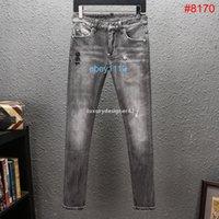 D2 2020 mens denim jeans denim black ripped pants best version fashion Italy style high quality biker motorcycle rock jean #8170 QWo