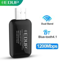 EDUP 1300Mbps USB WIFI محول Dual Band 2.4G / 5GHZ Bluetooth 4.1 بطاقة شبكة لاسلكية مصغرة لأجهزة الكمبيوتر المحمول لسطح المكتب للكمبيوتر