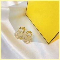 2021 Mujeres Diseñador Hoop Earings Womens Jewelry Elegante Cristal Pendientes Partamentos Letra F Pendientes Diseñadores Pendiente 925 Silver 21082402R
