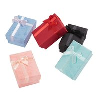 60pcs Jewelry Box Earrings Necklace Rings Gift Packaging High Quality Paper Display with White Sponge 211014