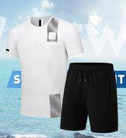 2021 Мужские Дизайнерские трексуиты Летняя Рубашка Мода Коллекцион Мужчины Спортивные Костюм Костюм Приморские Праздники Шорты Устанавливает Настройки Женщина Случайные Спортивные Блоки