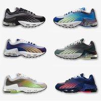 Mens TN Plus 2 scarpe da corsa da donna Sneakers sportive Ultra Triple Black Bianco Rainbow Hyper Blue Supernova Brushstroke Scarpe da ginnastica
