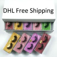 도매 50/100 쌍 3D 가짜 밍크 속눈썹 자연 긴 거짓 속눈썹은 벌크 DHL 무료