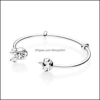 Bracelets Jewelry 100% 925 Sterling Sier 597494 Lovely Animal Of Love Open Bangle Charm Original Jewelry Set Gift Drop Delivery 2021 Qusdw