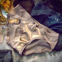 Women's Panties Women Underwear Lingerie Femme Sexy Mini Lace Bowknot Ladies Mesh Lightweight Breathable Mid-waist Briefs Satin