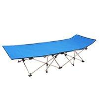 Banco portátil al aire libre Camping Plegable cama individual ultra luz Multifuncional Marching Beach Office Oficina simple Almuerzo Rompe de la silla reclinada con noche