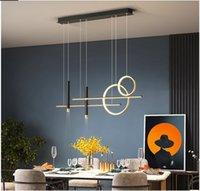Dining Room Chandelier Modern Minimalist Cafe Bar Table Decoration Lamp Nordic Creative Design Black LED Hanging Lamps