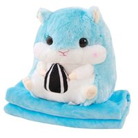 Hamster Doll Airable Blanket Three-in-One Napping Pillow Plush And Toys Birthday Gifts Pocket Handcuffs