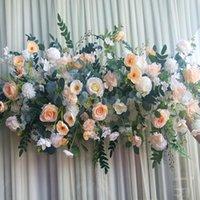 Роскошные искусственные цветочные рядные договоренности декор для вечеринки свадебный арки фона дороги цитируемые розовые пион рождественские декоративные цветы венки